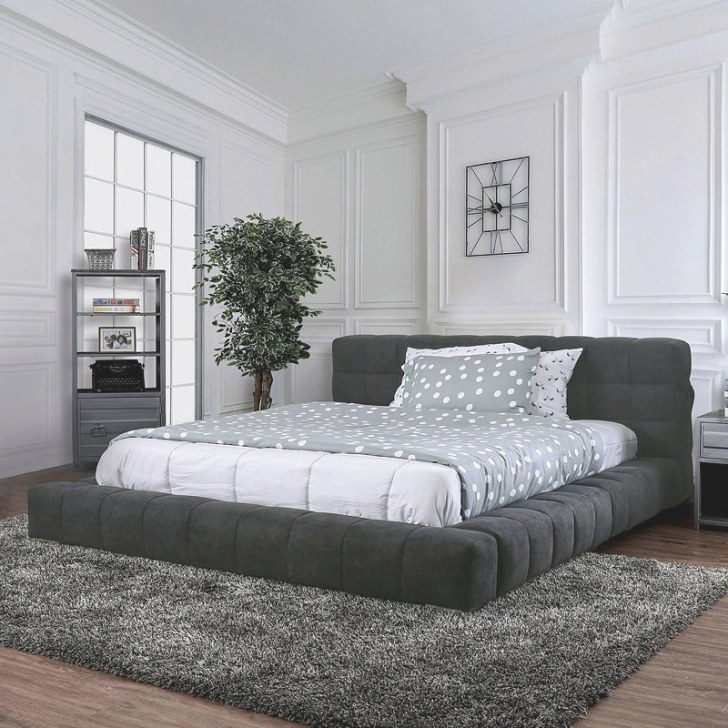 Wolsey Upholstered Low Profile Bed Furniture Of America throughout Low Profile Bunk Beds