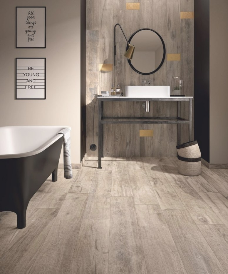 Wood-Look Porcelain Tile In Five Colors | For Residential Pros in Wood Look Tile In Bathroom