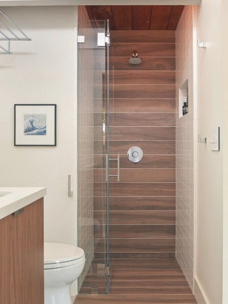 Wood Tile Shower Home Design Ideas, Pictures, Remodel And with regard to Wood Look Tile In Bathroom