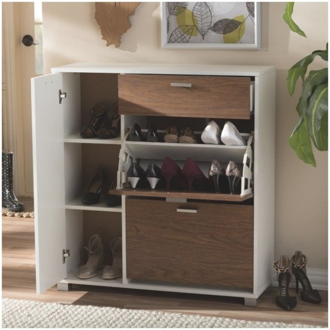 Wooden Shoe Storage Cabinet With Doors inside Shoe Cabinet With Doors