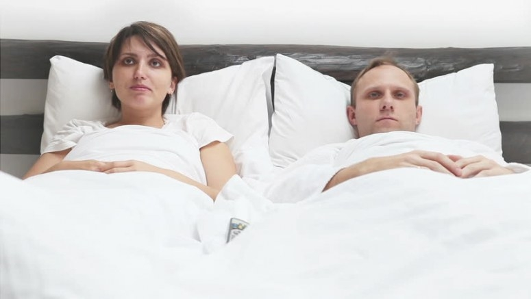 Young Couple Hugging On The Bed In Bedroom Stock Footage inside Husband And Wife In Bedroom