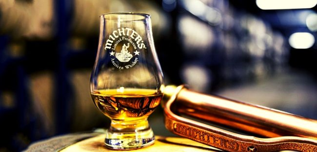 Michters us 1 small batch bourbon on glass