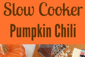 Slow Cooker Pumpkin Chili is the perfect gluten free fall recipe combining tons of spices and flavor for a delicious dinner, great for the autumn months.