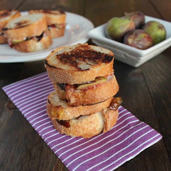 Goat Cheese Honey Fig Grilled Cheese