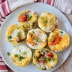 egg muffins on white plate