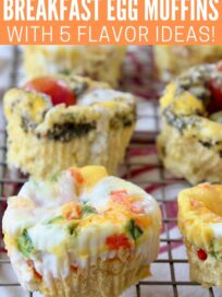 baked egg muffins sitting on wire rack