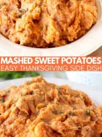 mashed sweet potatoes in bowl