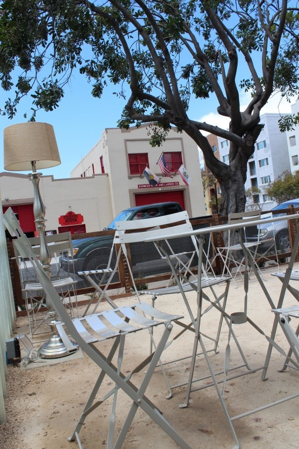 Dog Friendly Outdoor Seating at Queenstown San Diego
