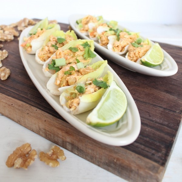 Chicken Salad on Endive Spoons