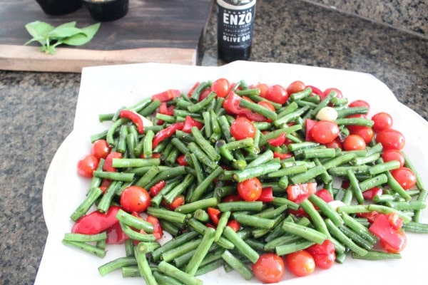 Roasted Green Beans and Tomatoes