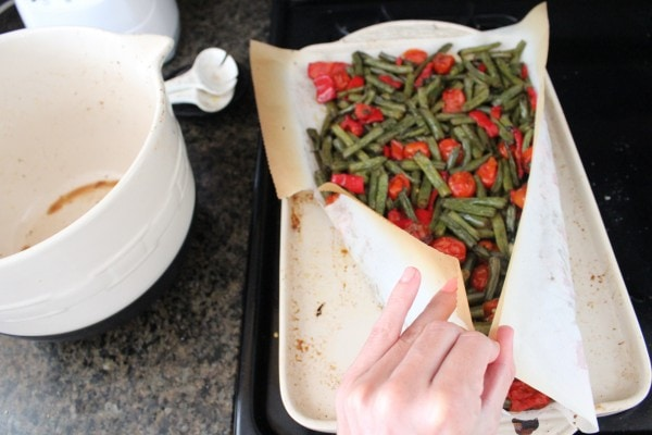 Roasted Green Beans and Tomato Salad Recipe