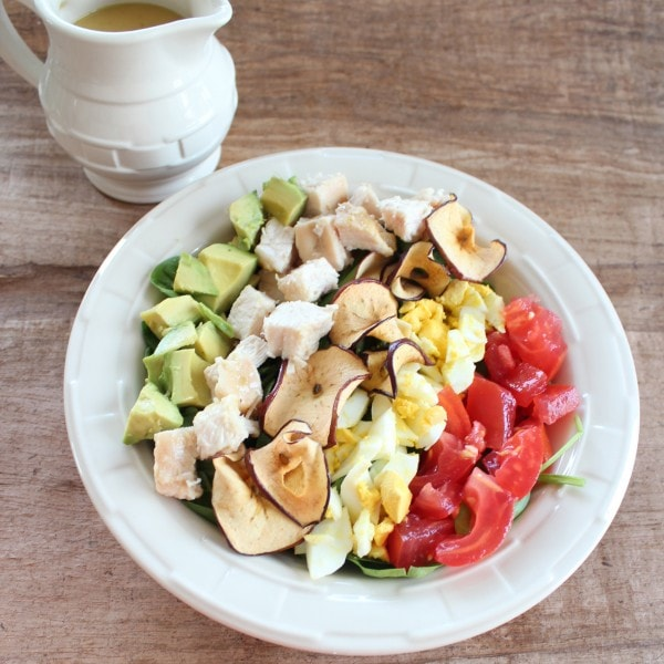 Healthy Cobb Salad with Baked Apples
