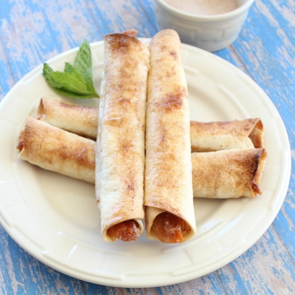 Apricot and Mascarpone Rolled Dessert Tacos