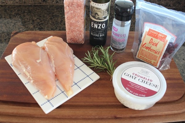 Cranberry Goat Cheese Stuffed Chicken Ingredients