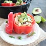 Cilantro Lime Chicken Stuffed Peppers