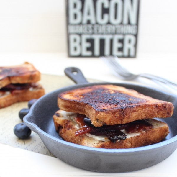 Gluten Free Blueberry Goat Cheese Grilled Cheese