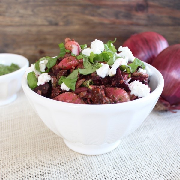 Roasted Beet and Goat Cheese Pasta Salad Recipe