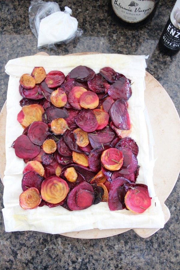 Roasted Beet and Cheese Tart Recipe