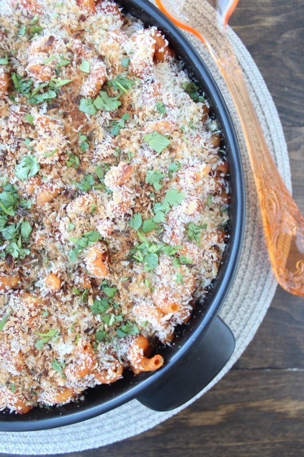 Roasted Red Pepper Baked Mac and Cheese