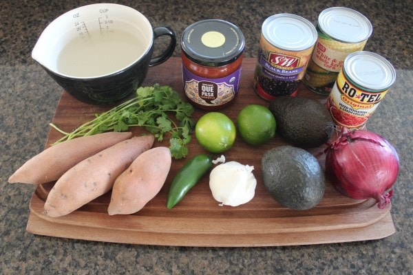 Mexican Chipotle Sweet Potato Casserole Ingredients
