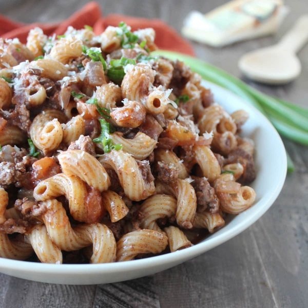 One Pot Spiced Beef and Macaroni