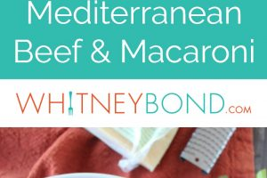 This Mediterranean Spiced Beef and Macaroni is made in one pot with 15 minutes of prep for a quick, easy and delicious dinner recipe.