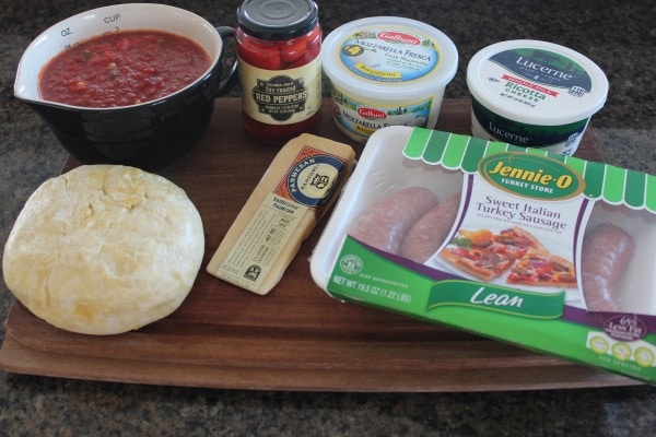 Deep Dish Heart Shaped Pizza Ingredients