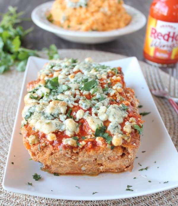 Buffalo Chicken and Pork Meatloaf