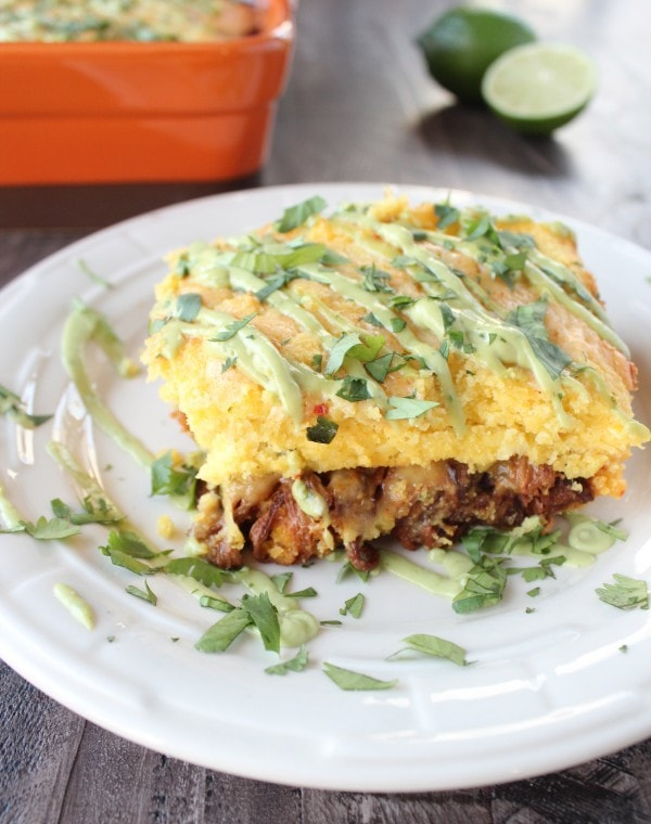 Chipotle Pulled Pork Tamale Casserole