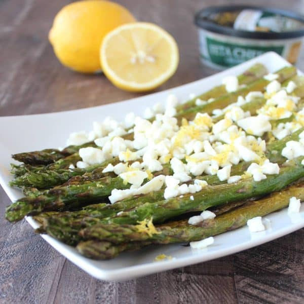 Grilled Asparagus with Feta
