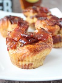 Candied Bacon Bread Pudding Muffins