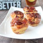 Maple Candied Bacon Bread Pudding Muffins Recipe