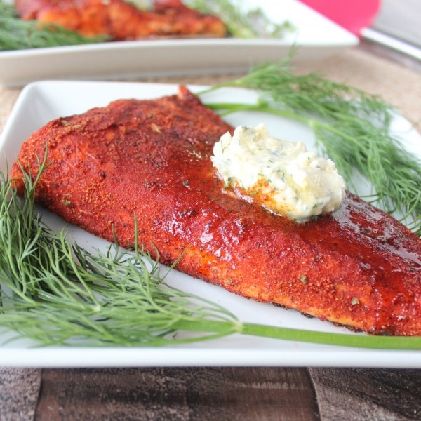 Blackened Salmon with Lemon Herb Compound Butter