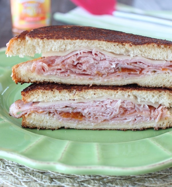 Apricot Ham and Cheese Sandwich