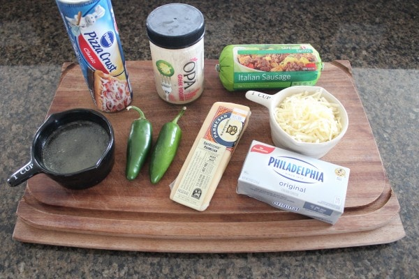 Jalapeno Sausage Pizza with 3 Cheese Jalapeno Ranch Sauce Ingredients