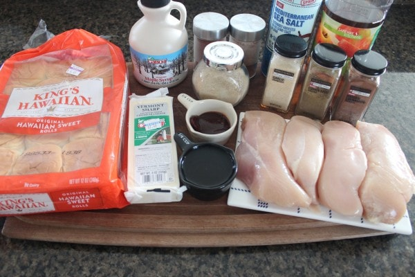 Slow Cooked Chipotle Maple Shredded Chicken Slider Ingredients