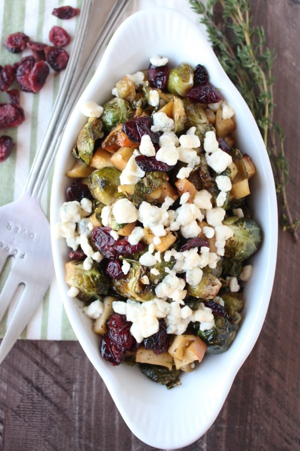 Roasted Brussel Sprouts with Gorgonzola