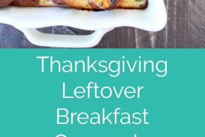 Thanksgiving leftovers are turned into a delicious breakfast casserole filled with Hawaiian rolls, turkey, veggies and herbs!
