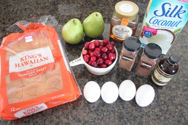 Cranberry Pear French Toast Bake Ingredients