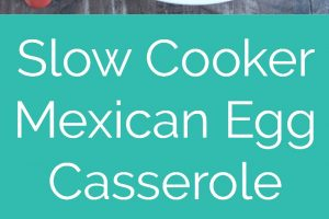 This Slow Cooker Mexican Egg Casserole recipe is easy to toss together, vegetarian & gluten free, it's great for weekday breakfasts or weekend brunch!