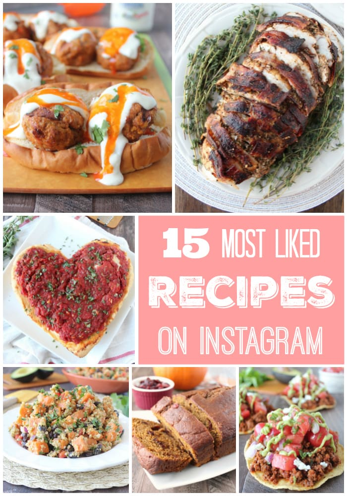 15 Most Liked Recipes on @WhitneyBond Instagram