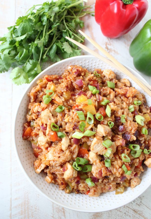 Sweet and Sour Chicken Fried Rice Recipe