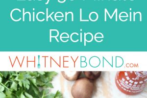 This Chicken Lo Mein recipe is easy to prepare in 30 minutes, which makes it the perfect alternative to ordering Chinese food take out!