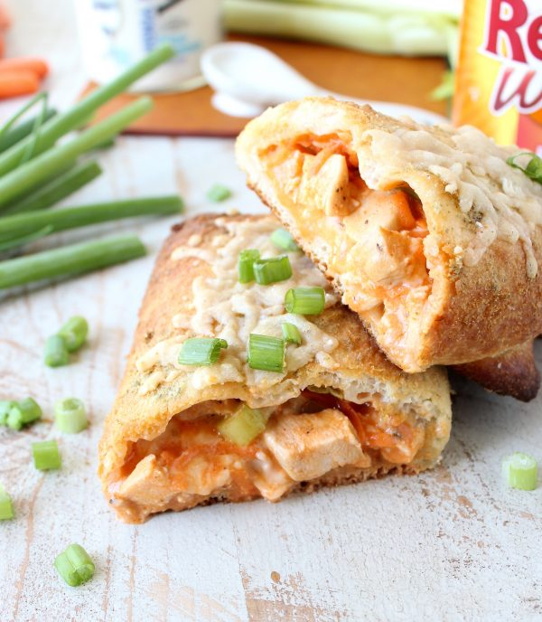 This Buffalo Chicken Bake Recipe is a recreation of the Costco Chicken Bake with a buffalo sauce twist, it's so easy to make & totally delicious!