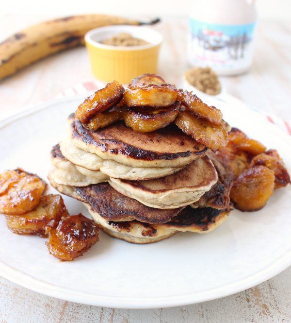 Give your pancakes a sweet taste of the Caribbean, with this delicious & easy 20 minute recipe for Caramelized Plantain Pancakes!