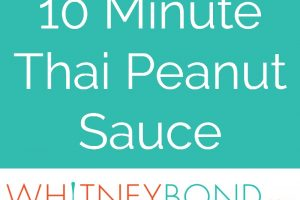 Whether you drizzle it over buddha bowls, add it to pizza or toss it with noodles, this easy 10 minute Thai Peanut Sauce recipe is sure to be a hit!