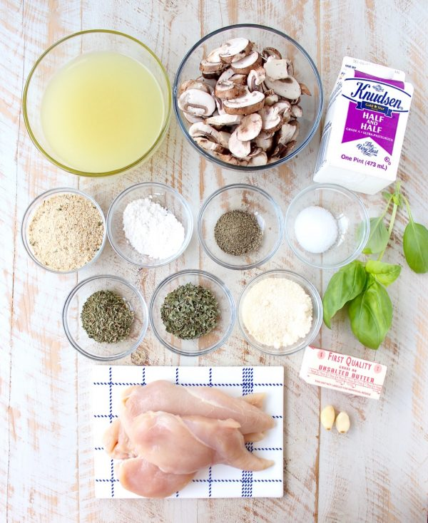 A decadently creamy mushroom sauce covers chicken parmesan in this quick and easy Mushroom Chicken recipe that you'll want to make over and over!