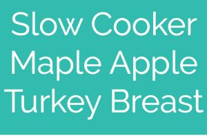 This simple slow cooker turkey breast recipe is perfect for Thanksgiving, or an easy weeknight dinner anytime! The maple apple glaze is delicious & only requires 4 ingredients & 5 minutes to prep!