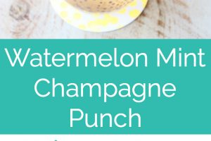 champagne punch in glass with lemon wedge