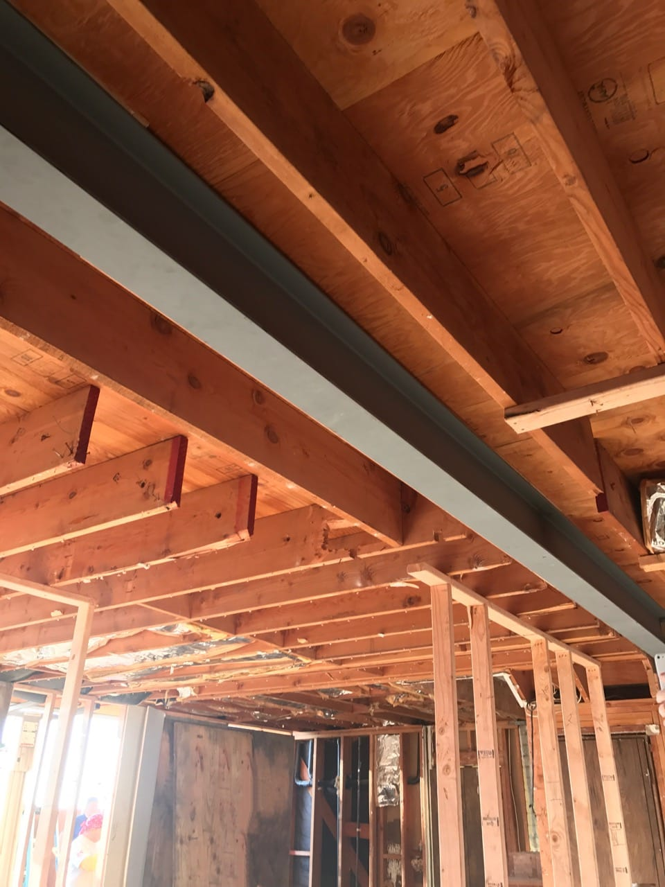Steel beam in kitchen to replace load bearing wall